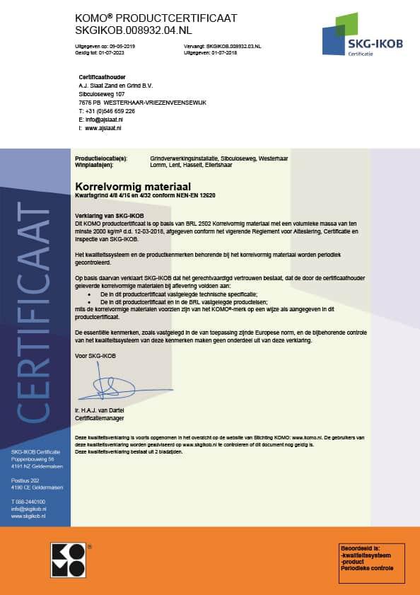 SKG-IKOB certificaat